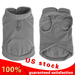 New-Small-Pet-Dog-Fleece-Harness-Vest-Puppy-Warm-Clothes-with-Pocket-Apparel