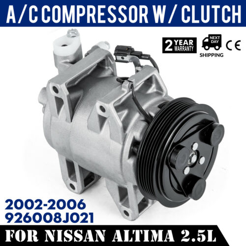 2002-2006 Altima 2.5L UAC High 926008J021 SET A//C Compressor for CO 10778JC