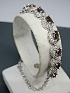 Turkish-Handmade-Jewelry-925-Sterling-Silver-Alexandrite-Stone-Ladies-039-Bracelet