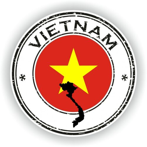 Sticker of Vietnam Stamp for Bumper Travel Laptop Tablet Suitcase Holidays