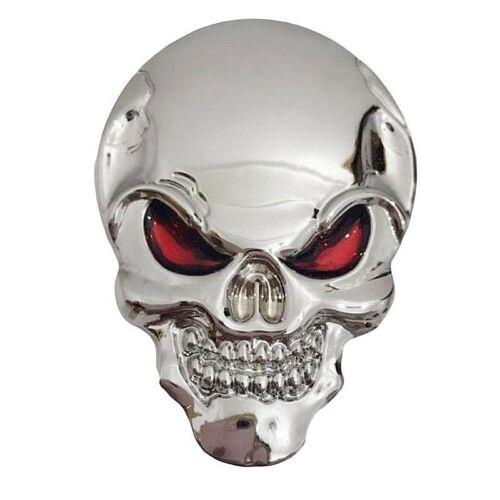 "3D SKULL Metal Sticker Decal Emblem 2/"" x 1-1//4/"" Car Truck Motorcycle Accessory"