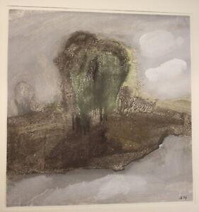 Gouache-von-Ursula-Bankroth-034-Baumgruppe-034-1976-Malerei-Kunst-Zeichnung-sf