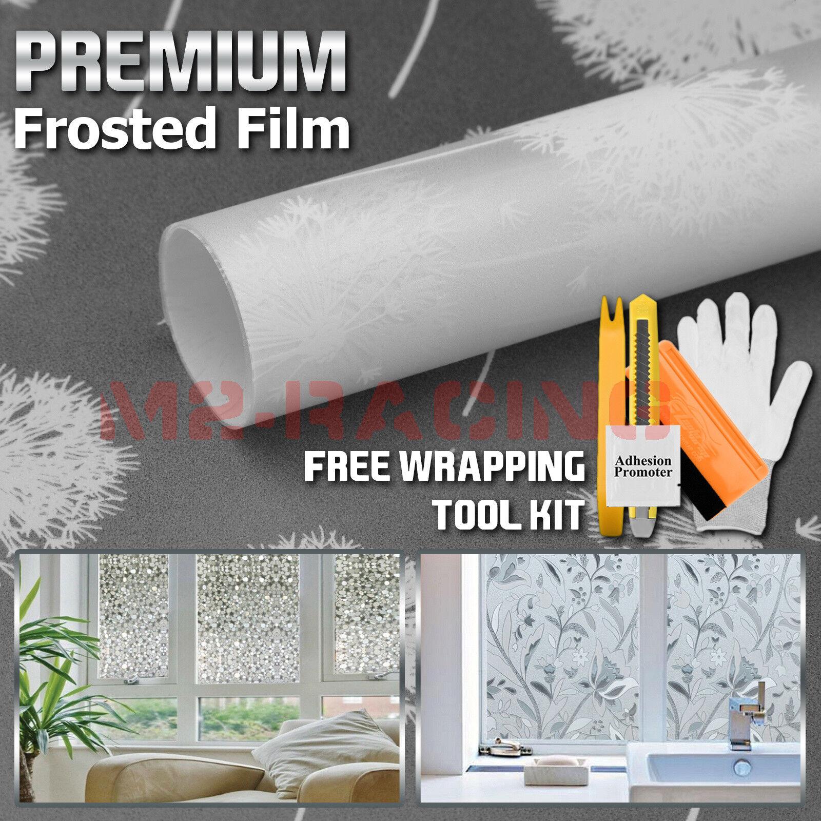 Premium Película Vidrio Esmerilado Privacidad de seguridad para el Hogar Cuarto de Baño Ventana Adhesivo  5019