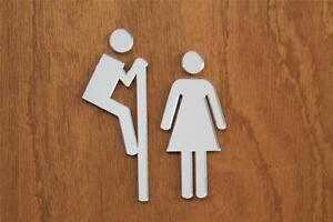 Bathroom Sign Ebay classikool peeping acrylic mirror toilet door sign: male female wc