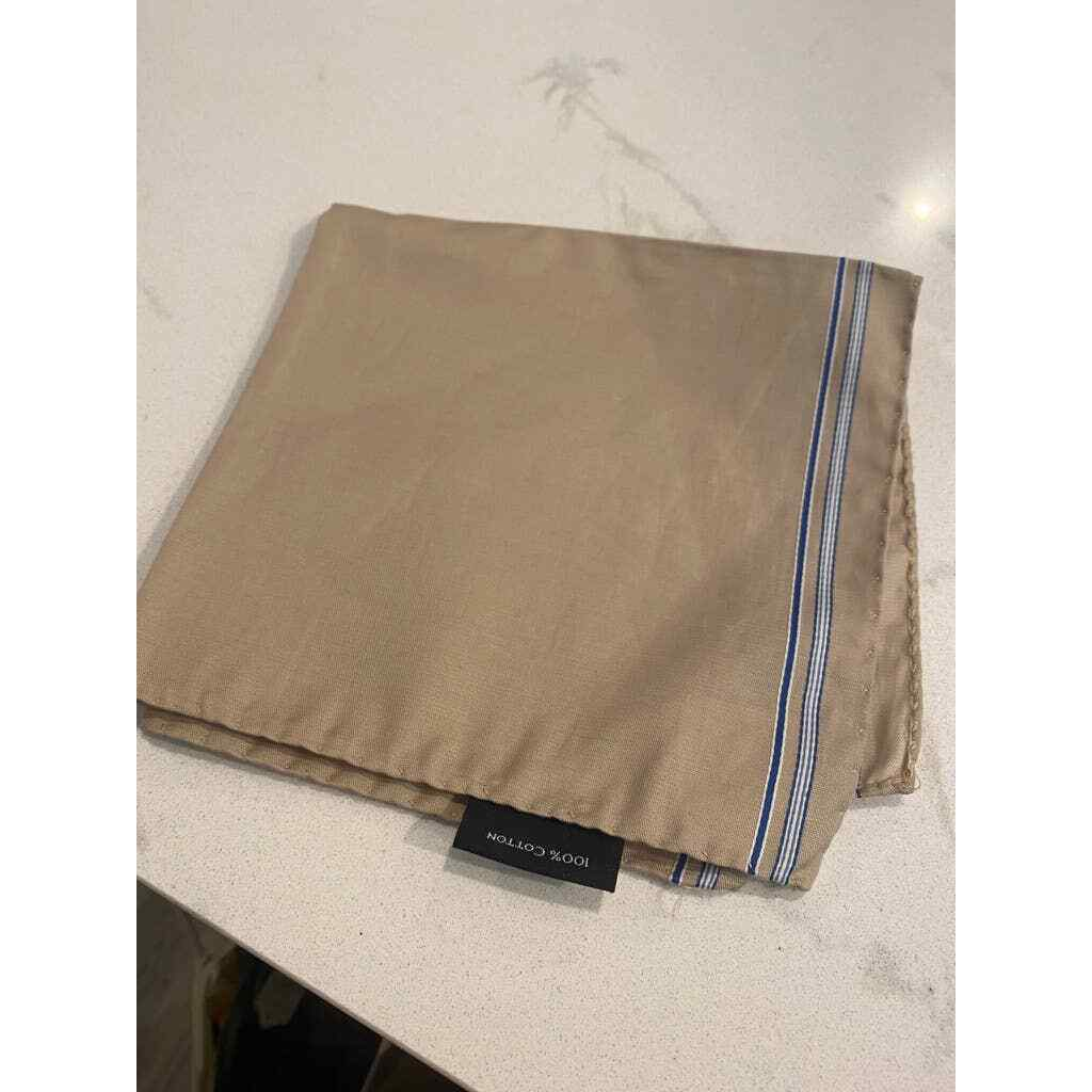Geoff Nicholson reversible cotton pocket square NWT