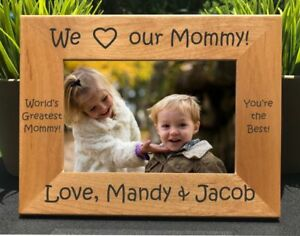 Personalized Engraved I Love My Mommy Picture Frame Mom
