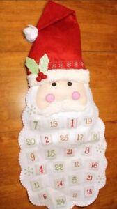 Pottery Barn Kids New Santa Face Advent Calendar Christmas