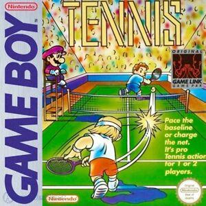 Nintendo-GameBoy-Spiel-Tennis-Mario-Tennis-mit-OVP-sehr-guter-Zustand