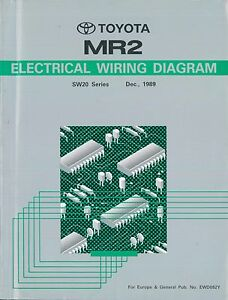 1989 TOYOTA MR2 SW20 SERIES ELECTRICAL WIRING DIAGRAM ...
