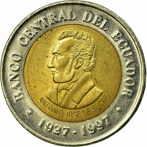 #589156 Coin, Ecuador, 70th Anniversary Central Bank 1997, 100 Sucres, 1997