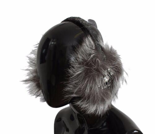 Grigio Orecchie Pelo Cristallo Gabbana Nuovo Paraorecchie Dolce Volpe Cuffie gqwOIgUnt