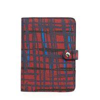 Vera Bradley Journal In Navy/red Art Plaid on sale