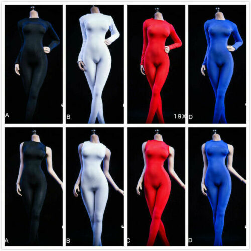 """VSTOYS 1//6 Female Jumpsuits Long//short Sleeve Siamese tights clothes F12/"""" figure"""