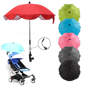 1d152d8f056a Details about Baby Stroller Umbrella Wheelchair Sun Shade Pushchair Parasol  Rain Canopy Cover