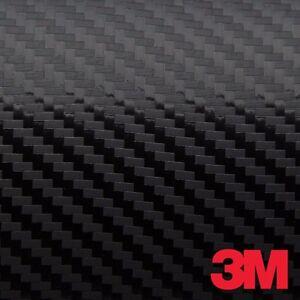 3m 1080 Black Carbon Fiber Vinyl Car Wrap Film Ebay