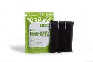 3-PACK da sempre BAMBOO Moso bambù CARBONE MINI Deodoriser /& Deumidificatore