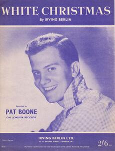 WHITE-CHRISTMAS-Music-Sheet-1942-IRVING-BERLIN-British-Edition-PAT-BOONE