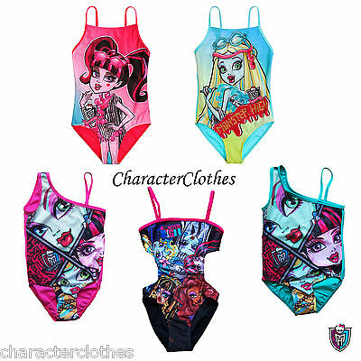 New Girls Character MONSTER HIGH Swimsuit Swimwear Age 6 8 10 12 14 Years