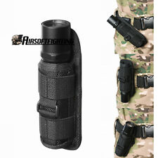 360 Rotating UltraFire Flashlight Holster Rotate Belt Clip Nylon Torch Pouch Bag