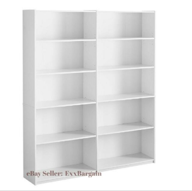 White 3 Cube Storage Bookshelves Set Of