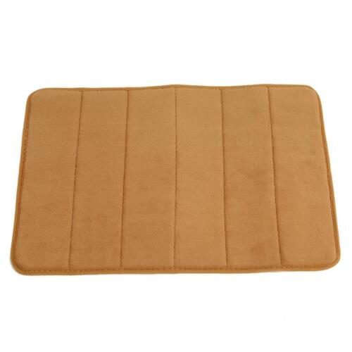 Water Absorbent Rug Bath Mat Rebound Memory Foam Bathroom Non Slip Carpet Pad QK