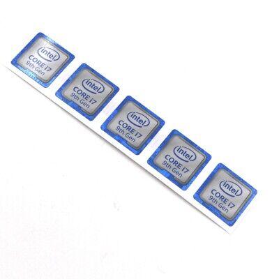5pcs  NEW inter CORE i7 8th Gen 18*18mm Sticker Badge Label Logo case ST085