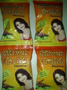 SILVER-GOLD-HENNA-MEHNDI-POWDER-20-gm-X-4-PACK-SPECIAL-FOR-HAIR-FREE-SHIPPPING