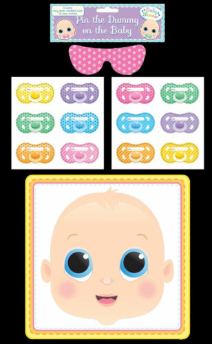 Pin The Dummy On The Baby Multi Player Shower Party Game Unisex Perfect Bargain!