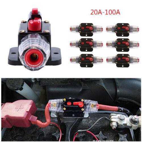 20A//30A//40A//50A//60A//80A//100A Car Circuit Breaker Auto Fuse Switch Audio Breaker
