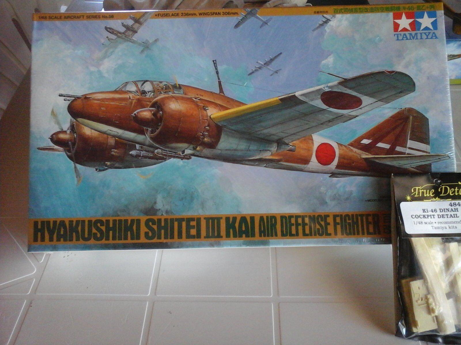 HYAKUSHIKI SHITEI  III KAI AIR DEFENSE FIGHTER 1/48 SCALE TAMIYA MODEL+RESIN PAR