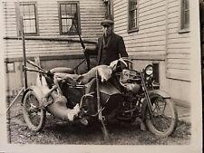 old deer hunting photo Harley Davidson Indian motorcycle