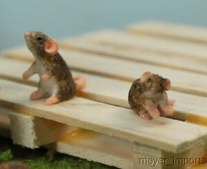Brown-Rats-G-Scale-Set-of-Three-for-your-junk-pile