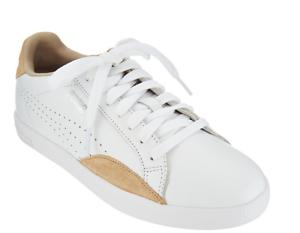 Tan scamosciata Safari Sneakers in 7 White 5 PumaMatch Women's stringate pelle e pelle iXkuZOP