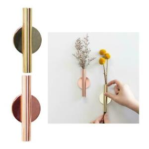 4/'/'H Wall-Mounted Flower Tube Wall Hanging Metal Vase Iron Art Decor Holder