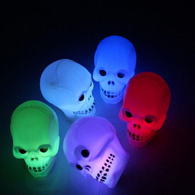 Holiday Flash Skull Grimace LED Lantern Night Light Lamp Halloween Decoration