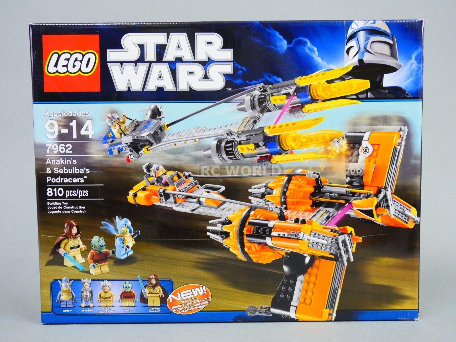 LEGO Star Wars ANAKIN & & & SELBULBA'S POD RACERS 7962 (810) pcs)  rk1t b76a0d