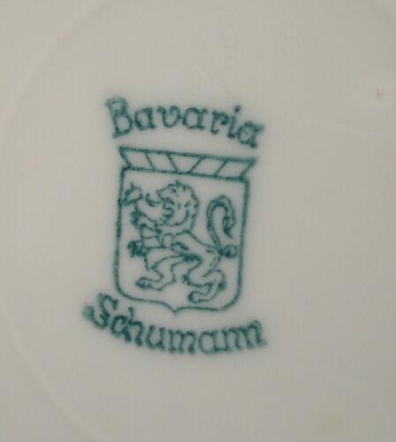 28 cm Fasane mit Goldrand  blau Schumann Bavaria Teller ca