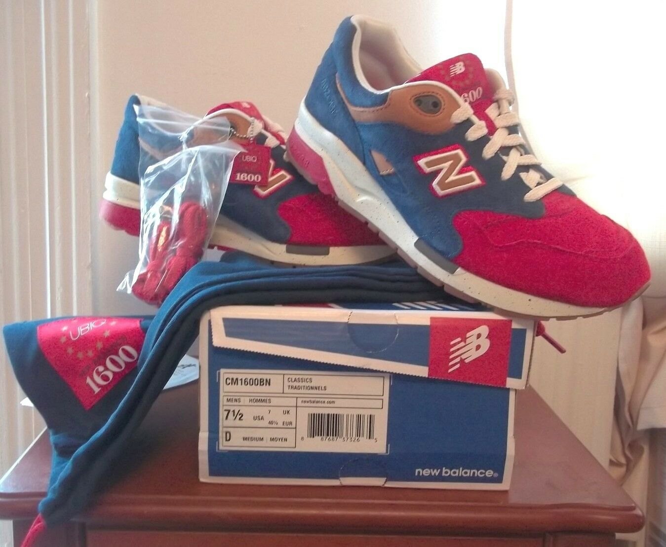 2013 UBIQ x New Balance 1600 THE BENJAMIN size 7.5 4th of july independence day