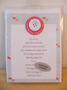 "Confident New Hallmark Pink Blue Spinning Wheel ""baby Shower"" 8 Invitations Baby"