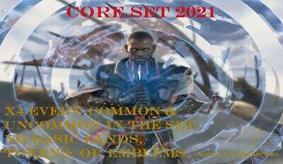 CORE SET 2021 X4 EVERY COMMON /& UNCOMMON M21 MTG MAGIC ~NOSTALGIC TREASURES~