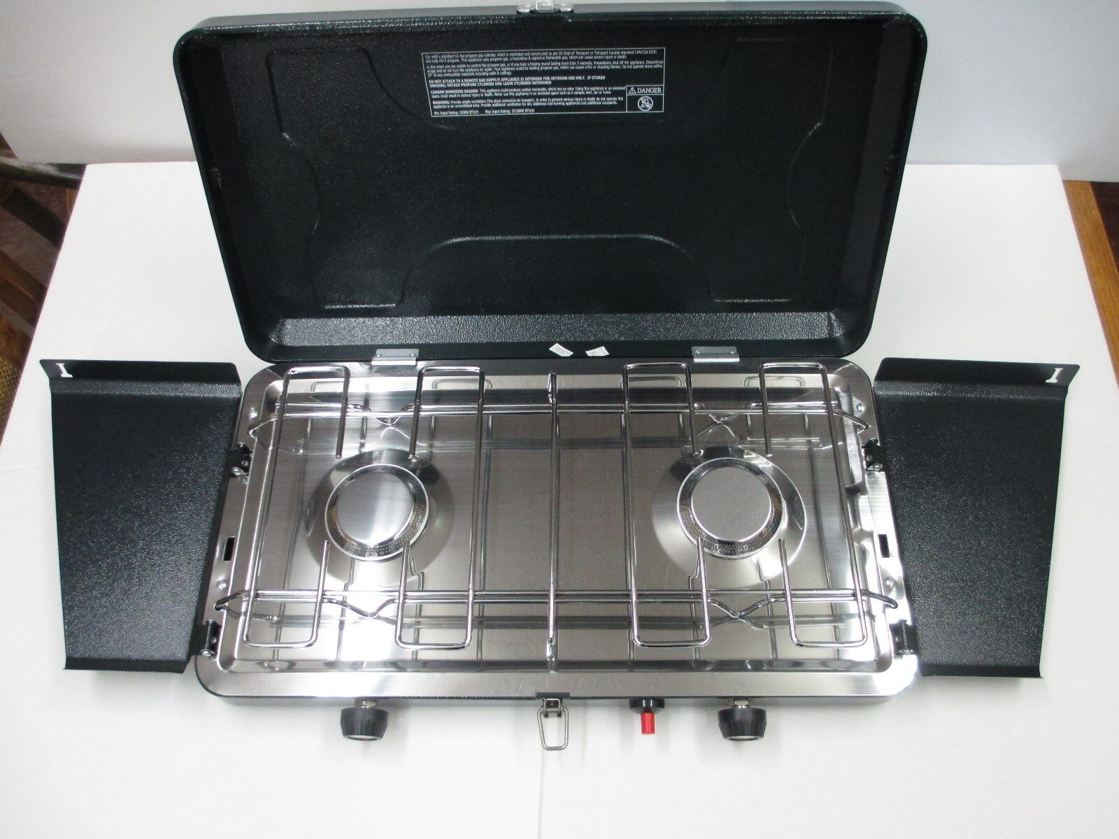 Cabin Creek 205-CC Two Burner Propane Camp Stove  with Piezo Lighter (REDUCED)  we take customers as our god