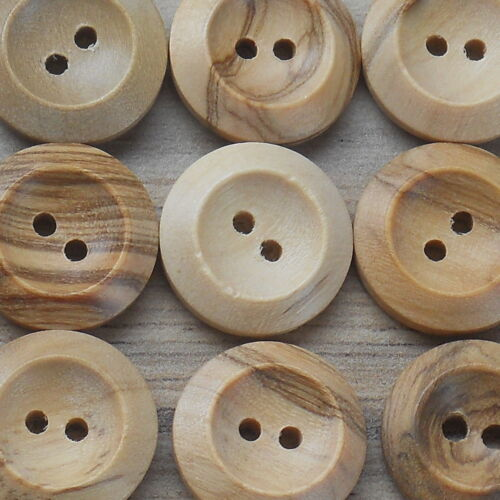 "23MM 7//8/"" BULK BUY WOODEN BUTTONS 2-HOLE NATURAL 100 or 50 PACK*** size 36"