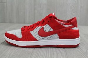 quality design 466c0 61ed1 Image is loading 27-New-Nike-Dunk-Low-Flyknit-University-Red-