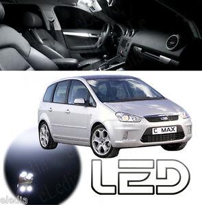 FORD-C-MAX-1-12-Ampoules-LED-Blanc-plafonnier-Habitacle-coffre-miroir-pieds