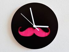 Hipster Moustache Wall Clock