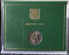 """2 Euro Gedenkmünze Vatikan """"Europäisches Jahr des Kulturerbes"""" 2018 BU im Folder"""