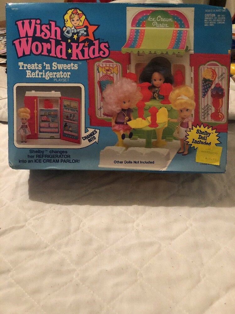 NEW NRFP Kenner Wish World Kids Treats 'n Sweets Refrigerator Shelby Included