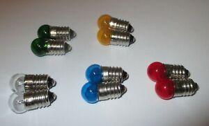 Lampes-de-Remplacement-11mm-Bille-E10-Couleur-3-5V-au-Choix-10-X-Neuf