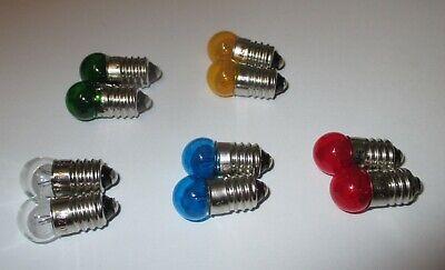 """Gelb /> 5 Stück  /""""NEU/"""" Fassung E10-3,5V Ersatzlampen 11mm Kugel Farbe"""