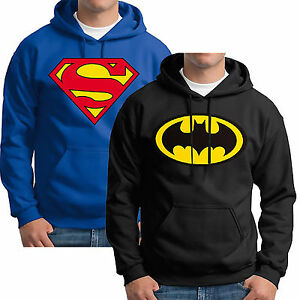 Men-Batman-Superman-Fleece-Hoodie-Drawstring-Hooded-Sweatshirt-Casual-Pullover